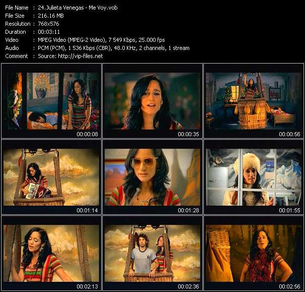 Screenshot of Music Video Julieta Venegas - Me Voy