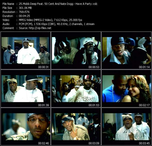 Screenshot of Music Video Mobb Deep Feat. 50 Cent And Nate Dogg - Have A Party