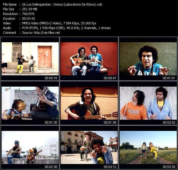 Screenshot of Music Video Los Delinquentes - Somos (Laboratorio De Ritmo)