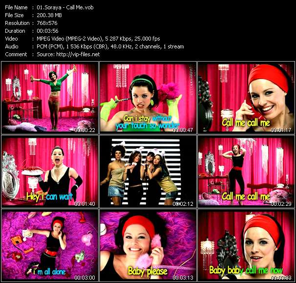 Screenshot of Music Video Soraya (Soraya Arnelas) - Call Me