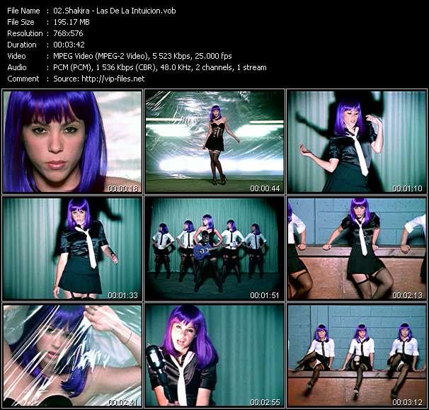 Screenshot of Music Video Shakira - Las De La Intuicion