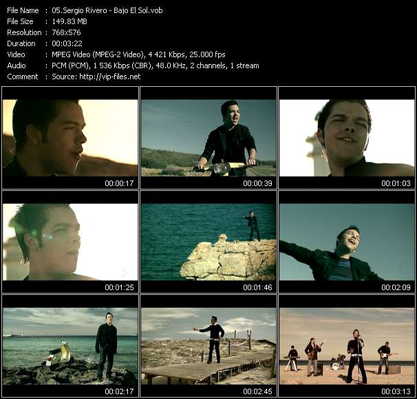 Screenshot of Music Video Sergio Rivero - Bajo El Sol