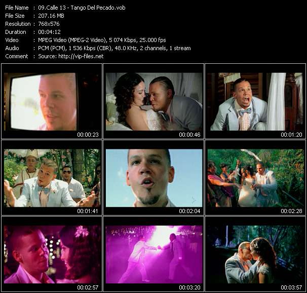 Screenshot of Music Video Calle 13 - Tango Del Pecado