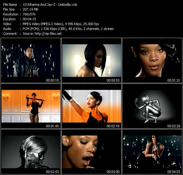 Screenshot of Music Video Rihanna And Jay-Z - Umbrella