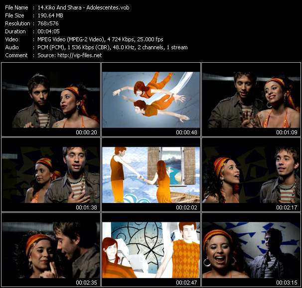 Screenshot of Music Video Kiko And Shara - Adolescentes