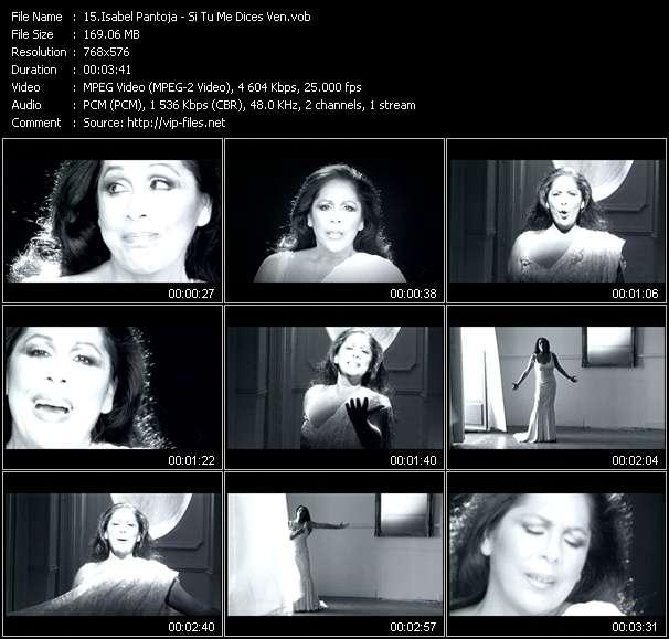 Screenshot of Music Video Isabel Pantoja - Si Tu Me Dices Ven