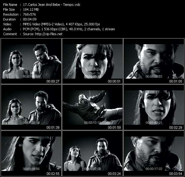 Screenshot of Music Video Carlos Jean And Bebe - Tiempo