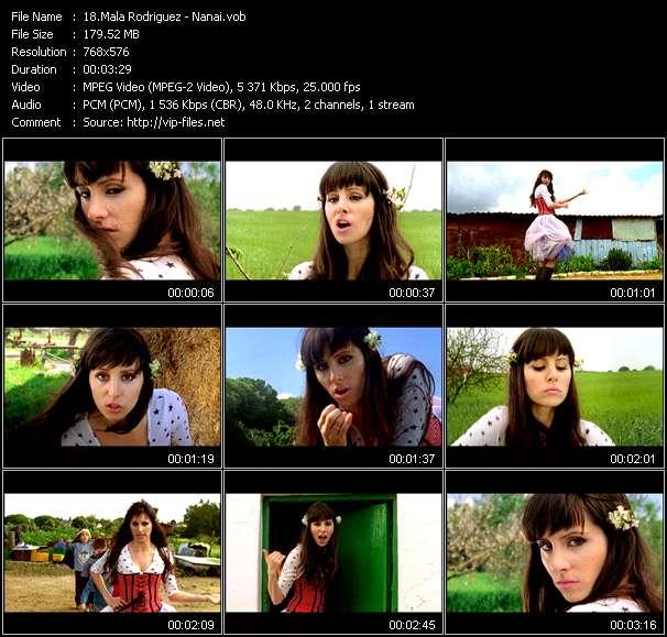 Screenshot of Music Video Mala Rodriguez - Nanai