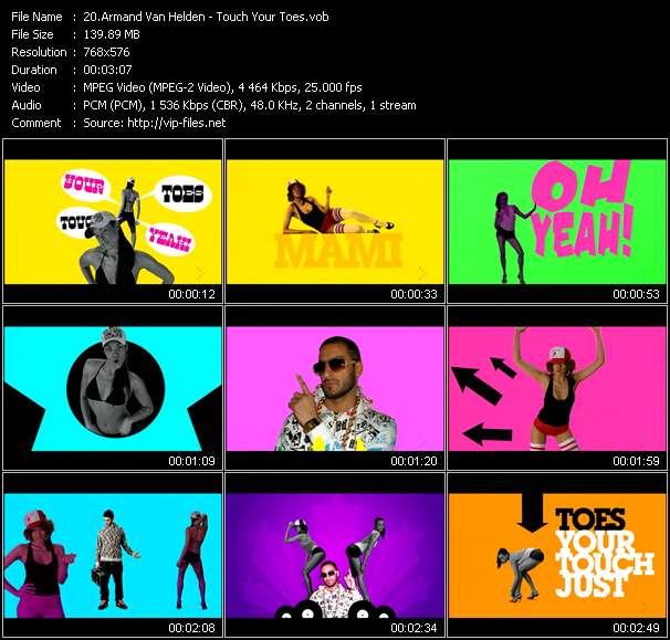 Screenshot of Music Video Armand Van Helden - Touch Your Toes
