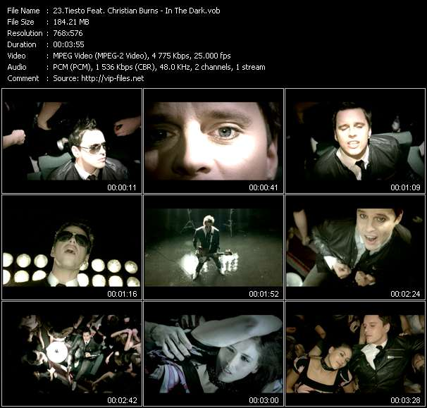 Screenshot of Music Video Tiesto Feat. Christian Burns - In The Dark