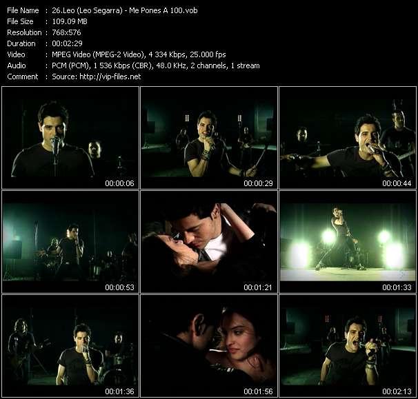 Screenshot of Music Video Leo (Leo Segarra) - Me Pones A 100