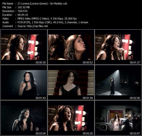 Screenshot of Music Video Lorena (Lorena Gomez) - Sin Medida