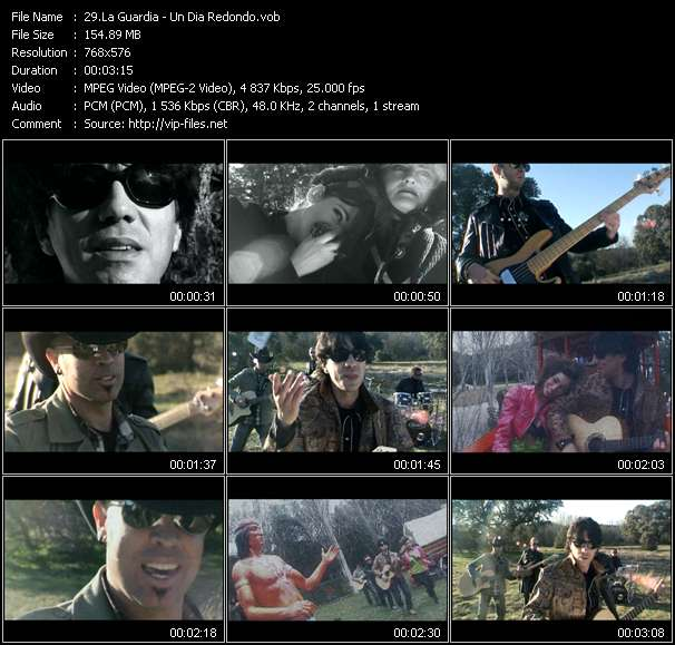 Screenshot of Music Video La Guardia - Un Dia Redondo