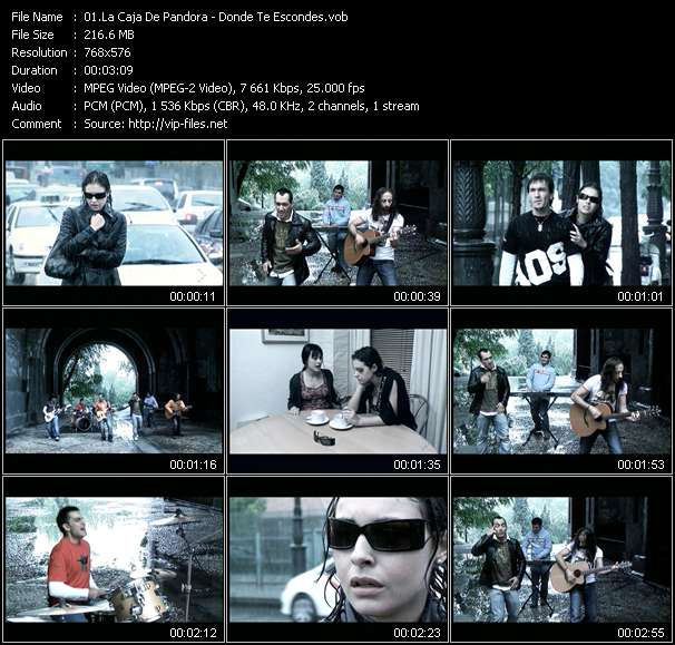 Screenshot of Music Video La Caja De Pandora - Donde Te Escondes