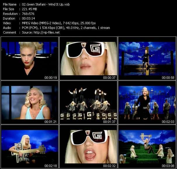 Screenshot of Music Video Gwen Stefani - Wind It Up
