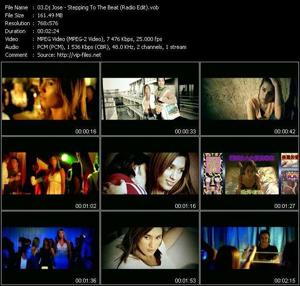 Screenshot of Music Video Dj Jose - Stepping To The Beat (Radio Edit)