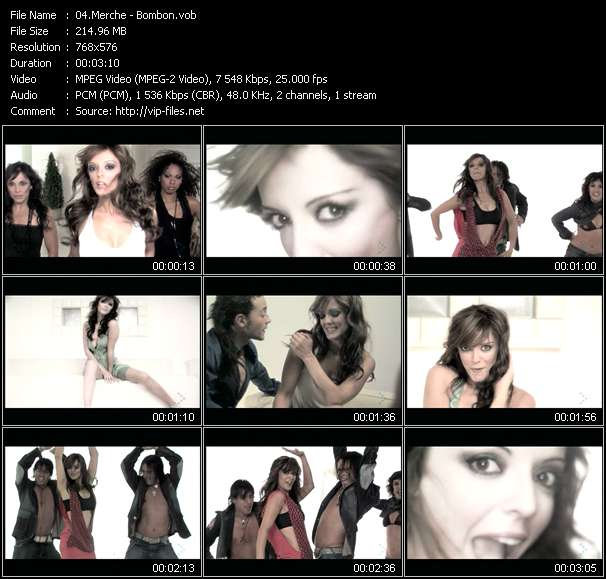 Screenshot of Music Video Merche - Bombon