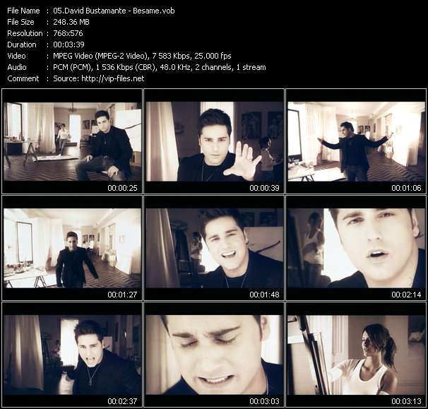 Screenshot of Music Video David Bustamante - Besame