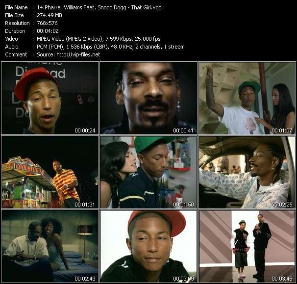 Pharrell Williams Feat. Snoop Dogg clips musicaux vob