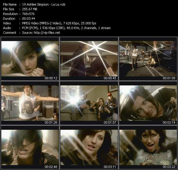 Ashlee Simpson video vob