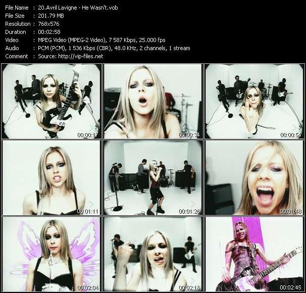 Avril Lavigne video vob