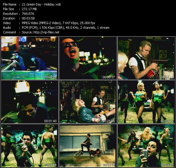 Green Day video vob