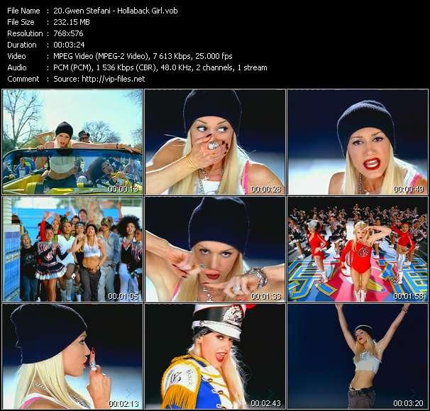 Gwen Stefani clips musicaux vob
