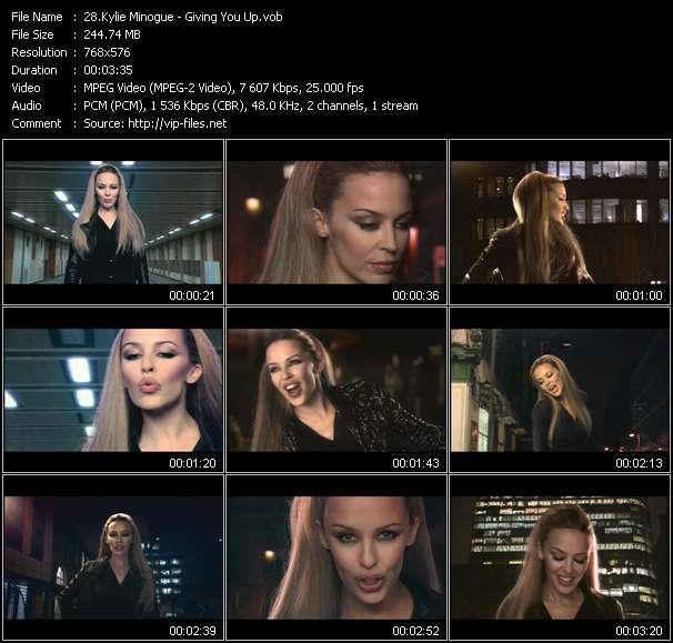 Kylie Minogue clips musicaux vob