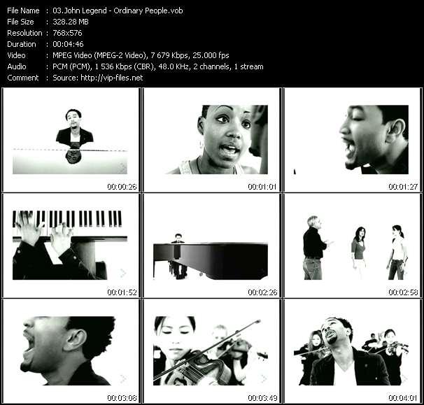 John Legend clips musicaux vob