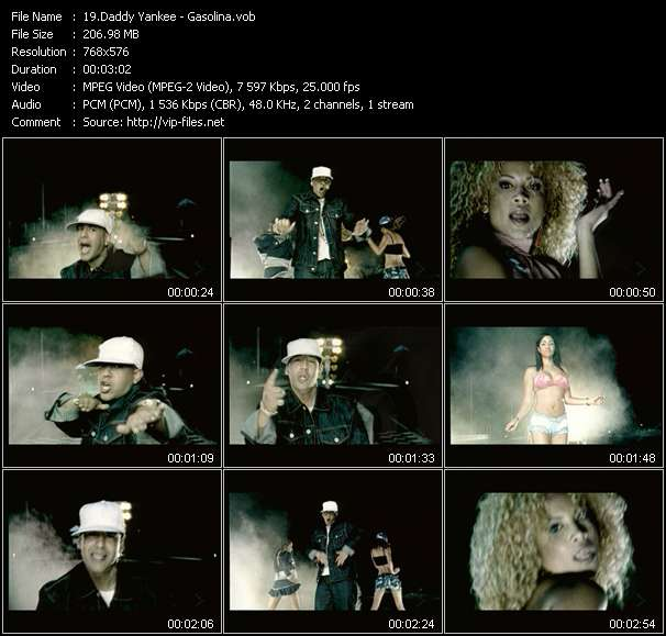 Daddy Yankee video vob