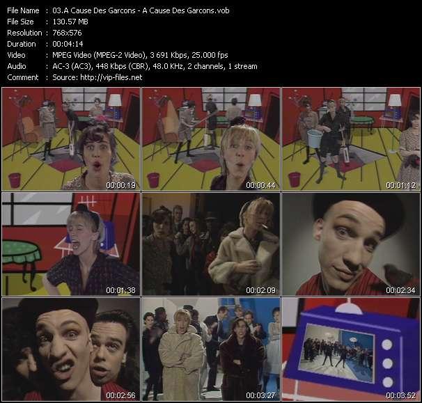 Screenshot of Music Video A Cause Des Garcons - A Cause Des Garcons