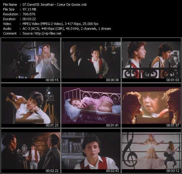Screenshot of Music Video David Et Jonathan - Coeur De Gosse