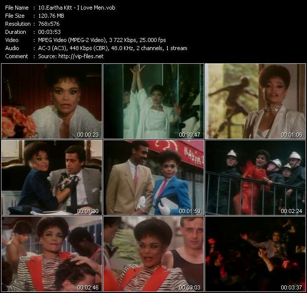 Screenshot of Music Video Eartha Kitt - I Love Men