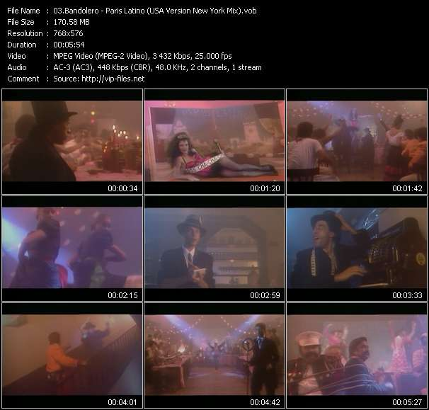 Screenshot of Music Video Bandolero - Paris Latino (USA Version New York Mix)
