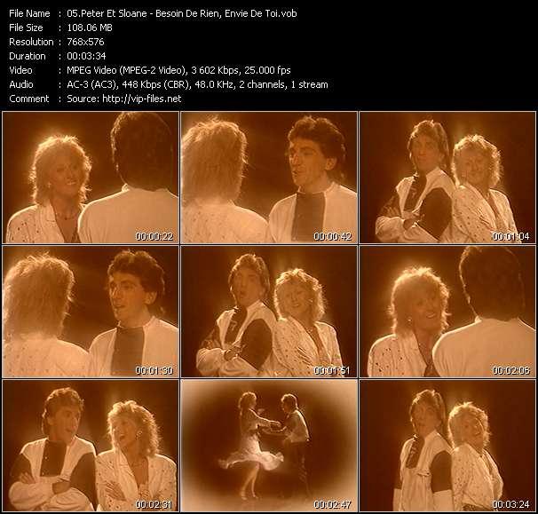 Screenshot of Music Video Peter Et Sloane - Besoin De Rien, Envie De Toi