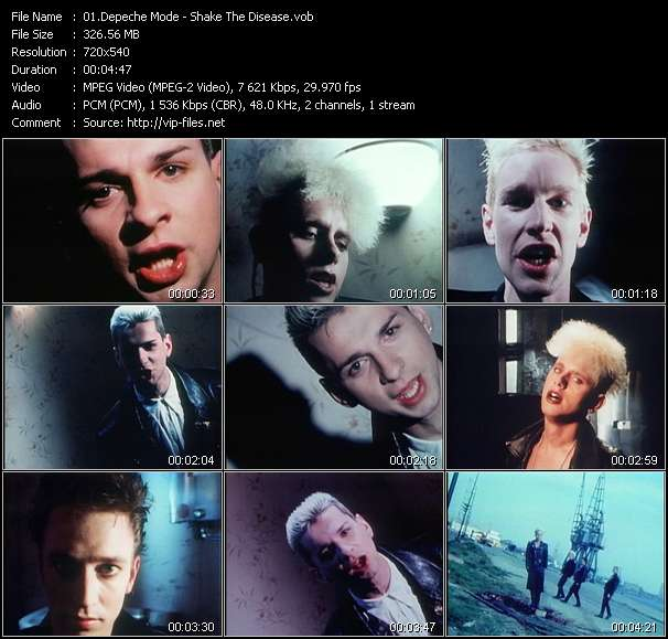 Screenshot of Music Video Depeche Mode - Shake The Disease