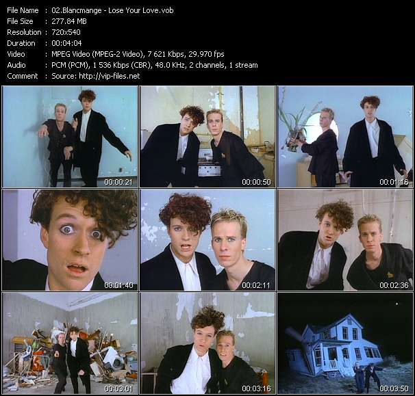 Screenshot of Music Video Blancmange - Lose Your Love