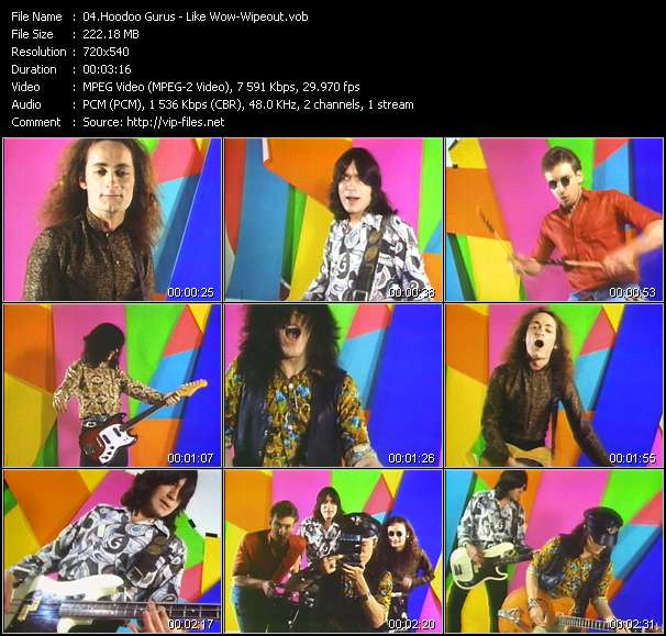 Screenshot of Music Video Hoodoo Gurus - Like Wow-Wipeout
