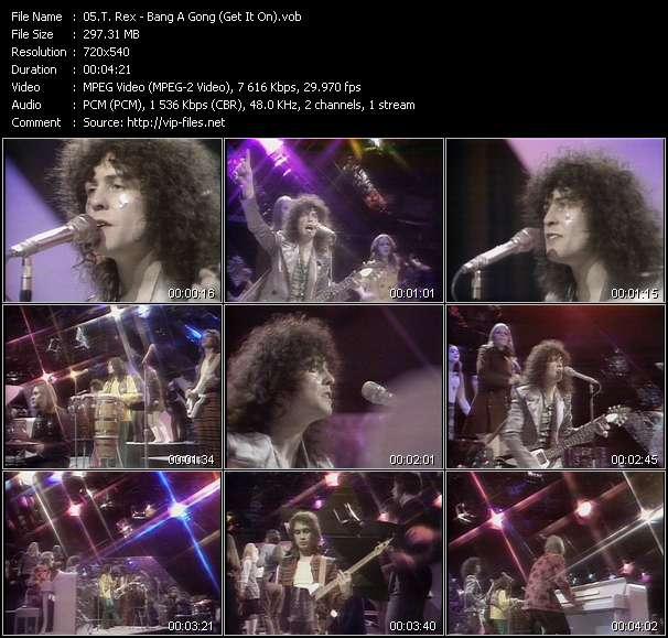 Screenshot of Music Video T. Rex - Bang A Gong (Get It On)