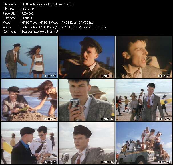 Screenshot of Music Video Blow Monkeys - Forbidden Fruit