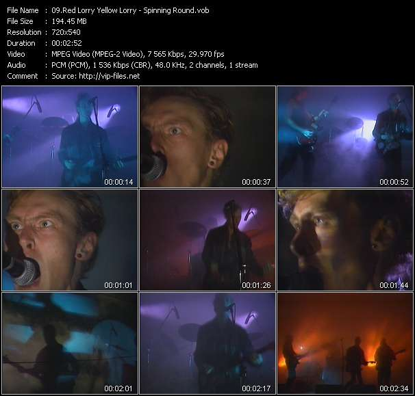 Screenshot of Music Video Red Lorry Yellow Lorry - Spinning Round