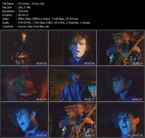 Screenshot of Music Video Xymox - A Day