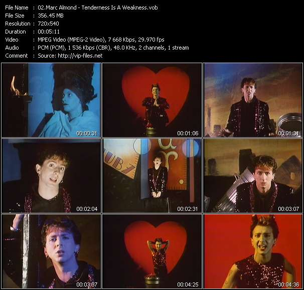 Screenshot of Music Video Marc Almond - Tenderness Is A Weakness
