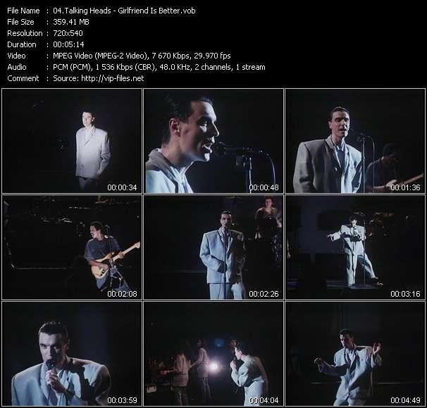 Screenshot of Music Video Talking Heads - Girlfriend Is Better