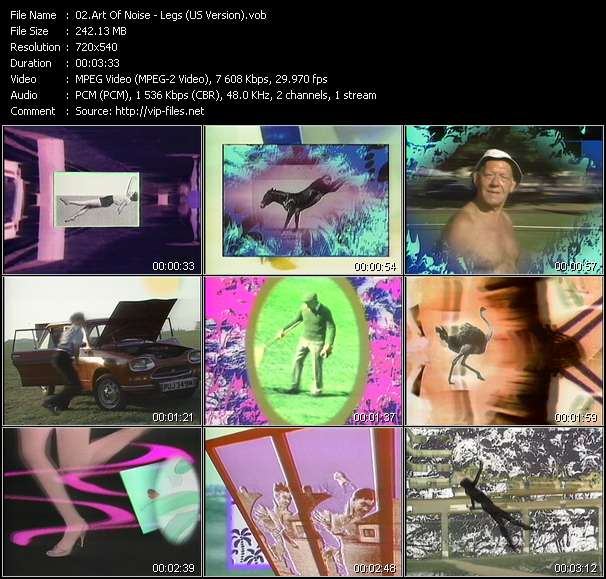 Screenshot of Music Video Art Of Noise - Legs (US Version)