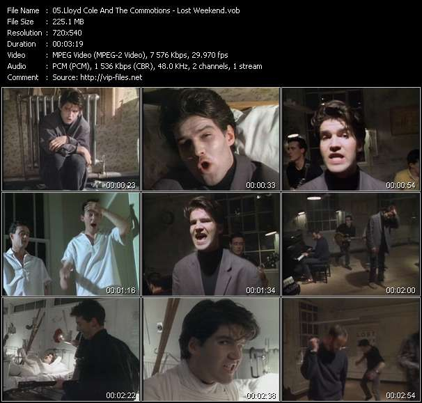 Screenshot of Music Video Lloyd Cole And The Commotions - Lost Weekend
