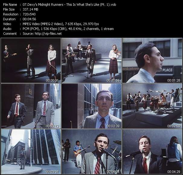 Screenshot of Music Video Dexy's Midnight Runners - This Is What She's Like (Pt. 1)