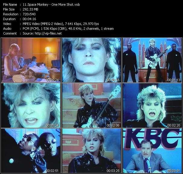 Screenshot of Music Video Space Monkey - One More Shot