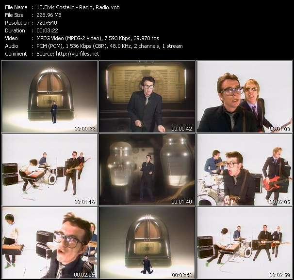 Screenshot of Music Video Elvis Costello - Radio, Radio