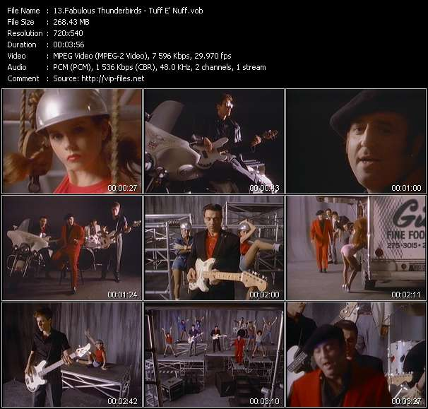 Screenshot of Music Video Fabulous Thunderbirds - Tuff E' Nuff